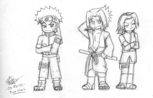 Naruto Shipuuden Team 7 differences? by PandyLiebely