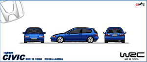 pixel car: Honda Civic EG6 by Megasxlrfan5