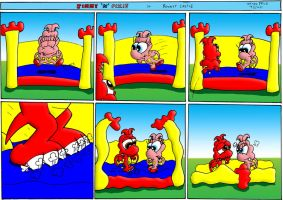 J And P: Bouncy Castle by JimmyCartoonist