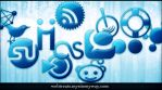 Blue Jelly Social Media Icons by WebTreatsETC