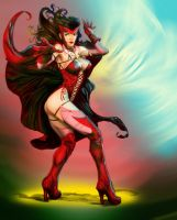 scarlet witch by saintchase by johnercek