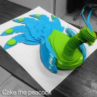 :Cake the Peacock: by PrePAWSterous