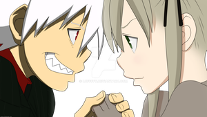 Soul and Maka by Luffffy