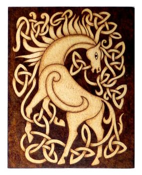 Celtic Horse wood burned plaque home decor by YANKA-arts-n-crafts