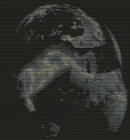 ASCII Art: Planet Gaia by yonicdeviant