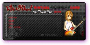 K-ON Membership Card - Yui by CielRz-Jr