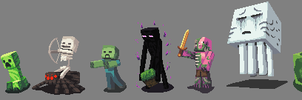 Minecraft Sprites by brotoad