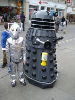 Dalek And Cyberman by lunamaxwell