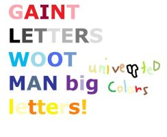not inveted LETTERS by max-the-dog333