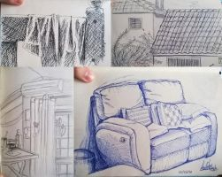 Objects and stuff sketches by PatyKasagai