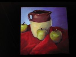 Apples and Jug by AngelicDragonElf