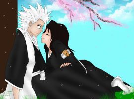 Hitsugaya and Hinamori by Neokillerqc