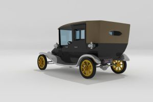 Rear Shot Ford Model T by Xpunk75