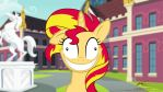 Crazy Sunset Shimmer by lazcreations
