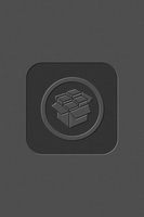 iOS5 cYDIA Wallpaper - Dark Grey - center by KoKaine