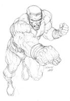 Colossus Pencil by mannyclark