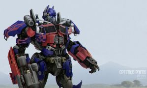 The movie version of Optimus Prime by zhuyukun