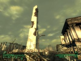 Fallout 3 - DC Monument 2 by Half-dude