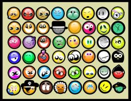 48 smileys by photoshop-addict28