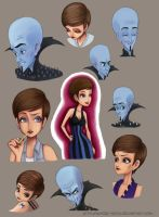 Megamind And Roxanne - Sketches by Winter-nook