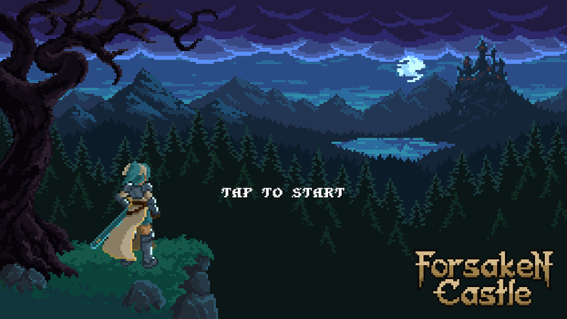 Forsaken Castle start screen by klyntoc