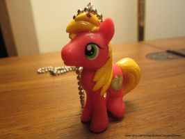 My Little Pony FIM Big Macintosh Necklace by colbyjackchz
