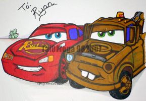 Lightning and Mater 4 Ryan by TaiOMega