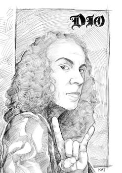 Rock In Peace DIO by katcanales