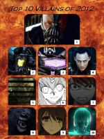 Top 10 Villains of 2012 by artdog22