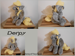 Sitting Derpy Plush - MLP by Varonya
