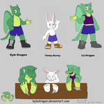 Kyle, Timmy, and Liz Reference 2015 by KyleDragon