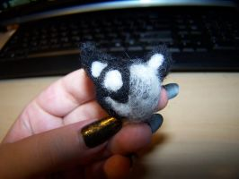 Wool Felting: Kage Kitty Head by GingaAkam