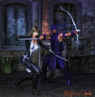 Hawkeye and Mockingbird by PGandara