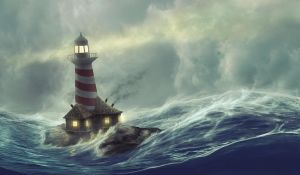Lighthouse storm by ImaginateArtwork