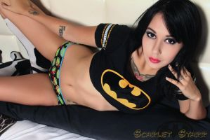 Scarlet Starr Batman shirt by starfoxxy