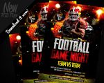 Football Game Night | Flyer Template PSD by REMAKNED