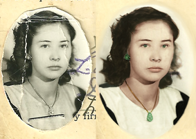 Grandmother in 1952 by Sgtconker1r