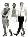 MCU Bucky, Sam, and Steve - HeroesCon 2014 sketch by kevinwada