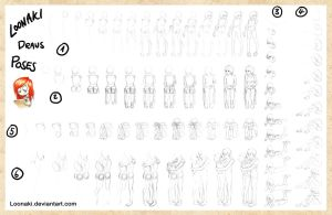How Loonaki Draws Poses by Loonaki