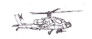 Apache Helicopter profile view fill by Muerphy