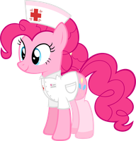 Nurse Pinkie Pie by Zacatron94