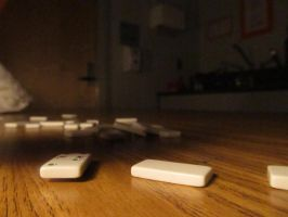 Photography - Falling Dominoes 4 (Floating) by watermelemon