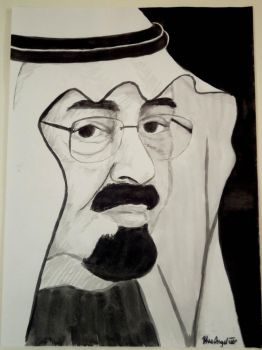 king Abdullah by BlueAngel-Nada