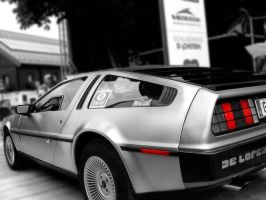 Delorean Black and White by dmcaustria
