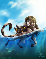 In the Sea by FireofAnubis