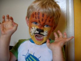 lil' tiger face 2- my nephew by alteredboxes