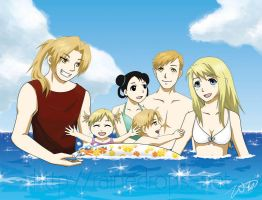 FMA: Elric Family by Rainedrops