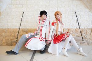 Asuna and Kirito by AmethystPrince