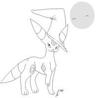 Free Halloween Umbreon Lineart by jaclynonacloud