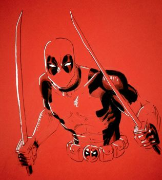 Red Deadpool by ReillyBrown